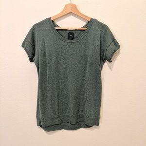 Gap slouchy cuffed sweater top